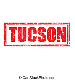 Tucson-stamp - Grunge rubber stamp with word Tucson,vector...