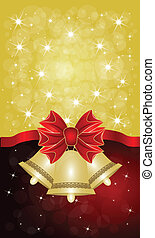 Greeting cards with red bows. Vector illustration