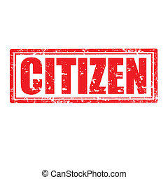 Citizen-stamp - Grunge rubber stamp with word Citizen,vector...