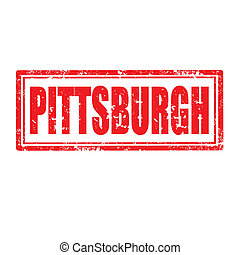 Pittsburgh-stamp - Grunge rubber stamp with word...