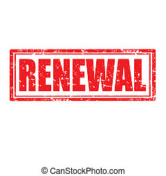 Renewal-stamp - Grunge rubber stamp with word Renewal,vector...
