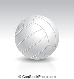 Vector Illustration of Realistic White Volleyball
