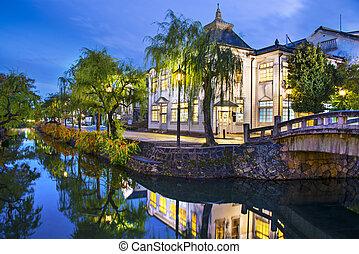 Kurashiki Canal - Historic canal in Kurashiki, Okayama,...