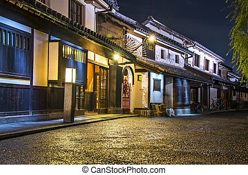 Okayama Street - Historic Bikan District in Kurashiki,...