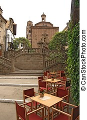 Poble Espanyol traditional architectural complex in...