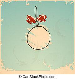 Vintage Christmas Ball. Vector Illustration. Eps 10.