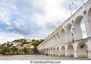 Lapa, Rio de janeiro, Brasil - Carioca Aqueduct in Lapa...