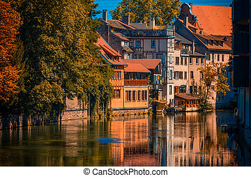 Sunny autumn day in Strasbourg