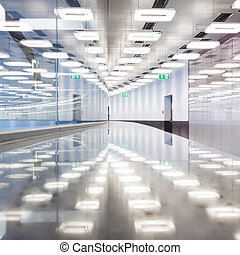 Contemporary airport terminal hall - Contemporary...