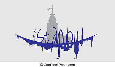 istanbul big city vector art