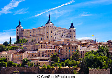 Alcazar of Toledo - Panorama of the alcazar in Toledo, Spain...
