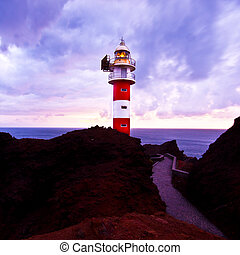 Lighthouse at the Cabo de Teno - Tenerife, Canary Islands,...