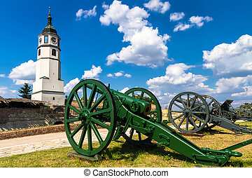 Kalemegdan Fortress in Belgrade, capital of Serbia -...