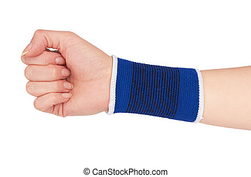 hand in a bandage from stretch