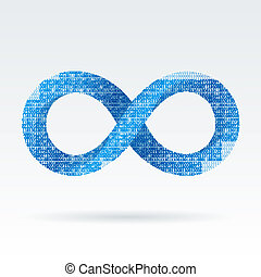 eternity - Digital infinity or eternity symbol vector...