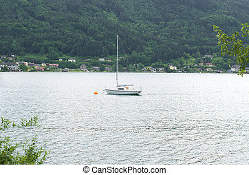 yacht on lake