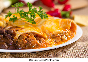 Southwest beef enchilada. - Southwest beef enchilada with...