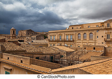 Above the rooftops in Noto