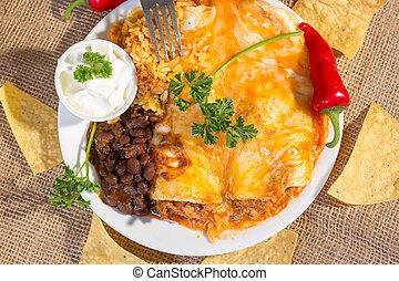 suroeste, carne de vaca, Enchilada