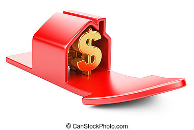 house with dollar sign and rising arrow