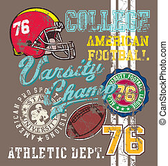 american Football varsity - football vector for shirt...
