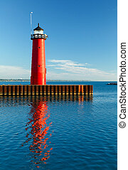 Kenosha, Wisconsin Pierhead Light - The bright red Pierhead...