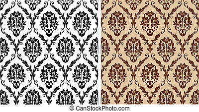 Seamless floral damask pattern for background or wallpaper...