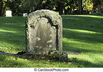 Classic Tombstone - A granite blank tombstone that can be...