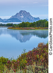 Grand Teton Reflection at Sunrise