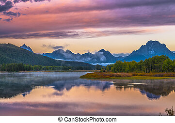 Grand Teton Reflection at Sunrise - Sunrise in Grand Teton...