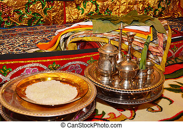 equipment in a traditional Indonesian wedding