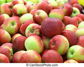 Apple multiplication - Multiplication of colorful apples in...