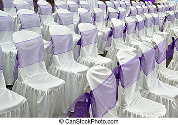 decorative cloth wrapping seats