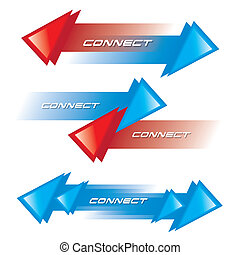 CONNECT ICON VECTOR - THE ABSTRACT OF CONNECT ICON VECTOR