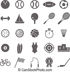 Sport icons on white background, stock vector