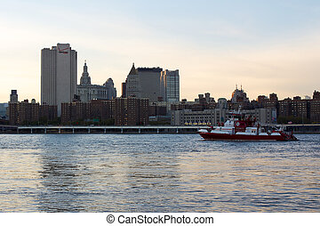 View of Two Bridges from Brooklyn - NEW YORK, NY, USA -...