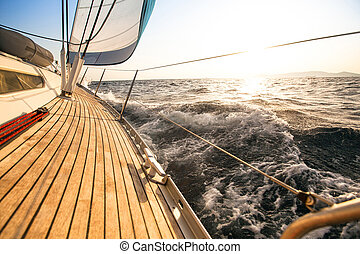 Yate, Navegación, regata, lujo, Yates