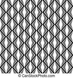 Monocromo, diamante, diseño,  seamless, patrón