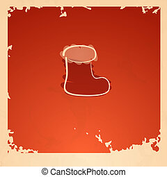 Christmas Sock. - Retro Christmas Sock. Vector Illustration....