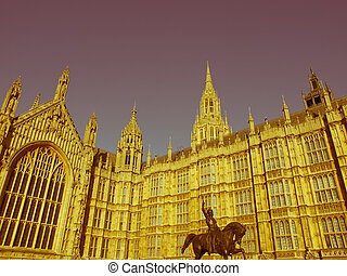 Retro looking Houses of Parliament - Vintage look Houses of...