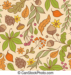 Autumn seamless pattern - Vector autumn seamless pattern...