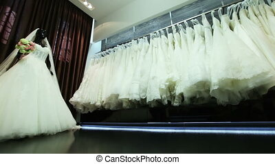 Salon wedding dresses - Beautiful dresses in wedding salon...