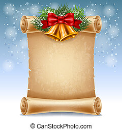 Christmas greeting card - Merry Christmas greeting card with...