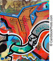 Abstract graffity - abstract graffity on the wall as a...
