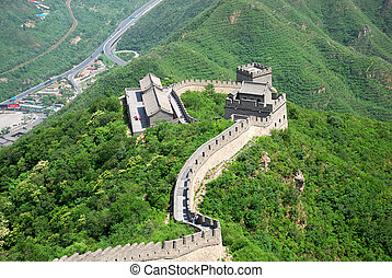 Great Wall in China - Beautiful landscape of Great Wall near...