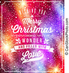 Christmas lettering greetings on a holidays winter...