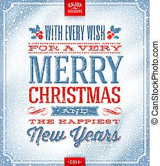 Christmas greeting card - Vector Christmas greeting card -...