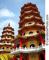 The Tiger and Dragon Pagodas in Taiwan - The famous Tiger...