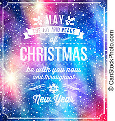 Christmas greetings - Christmas lettering greetings on a...