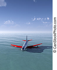 Plane Crash In Sea